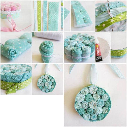How To Make Cloth Flower Pendant step by step DIY tutorial instructions thumb