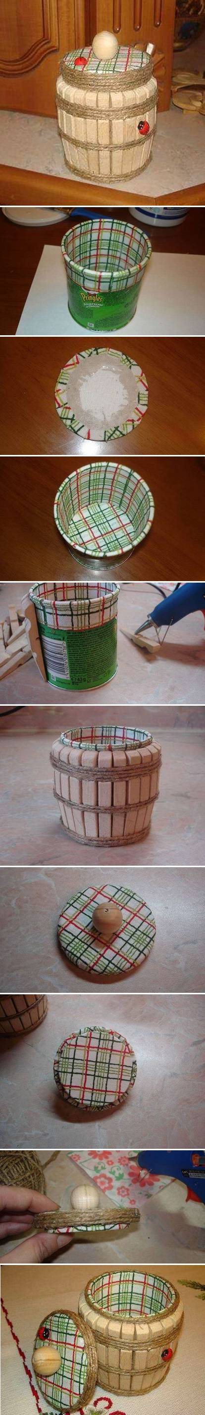 How To Make Clothespin Barrel step by step DIY tutorial instructions