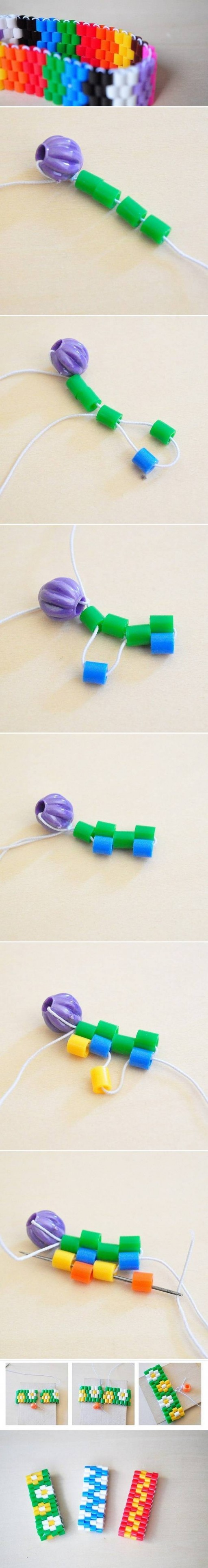 How To Make Colorful Bracelet step by step DIY tutorial instructions