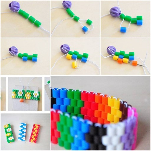 How To Make Colorful Bracelet step by step DIY tutorial instructions thumb
