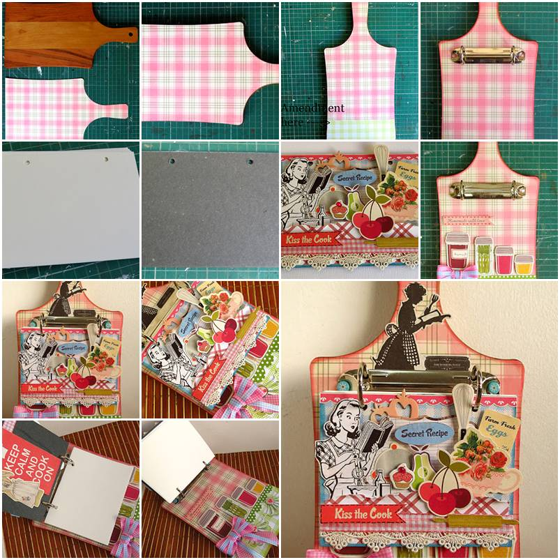 More DIY Ideas How To Make Creative Handmade Cookbook Step