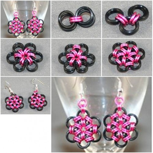 How to make creative metal ring earrings step by step diy for Creative ideas step by step