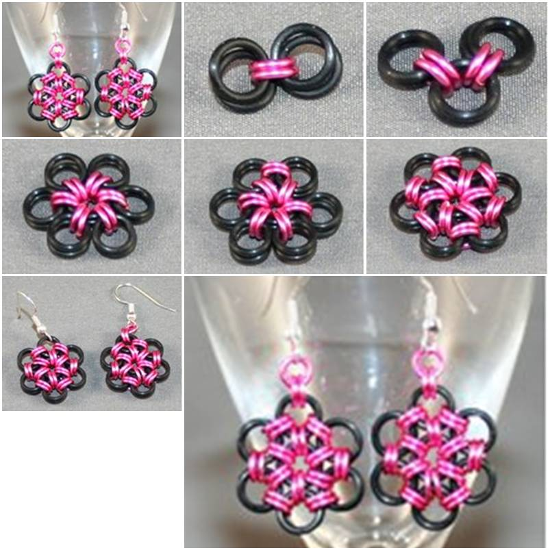 How To Make Creative Metal Ring Earrings Step By DIY Tutorial Instructions