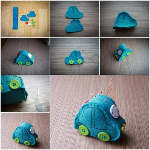 How To Make Cute Car Pincushion step by step DIY tutorial instructions thumb