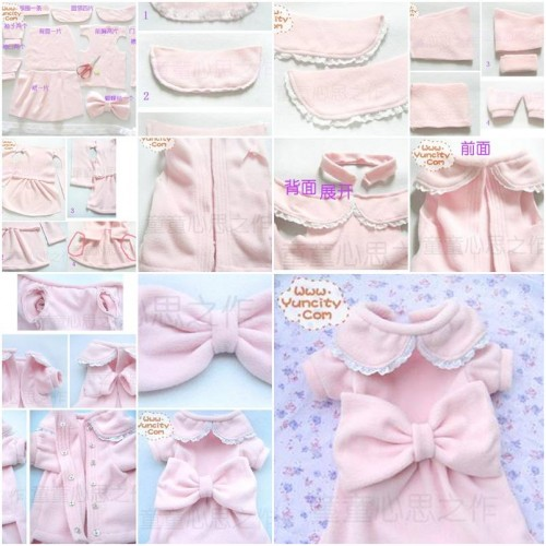 How To Make Cute Dog Dress step by step DIY tutorial instructions thumb