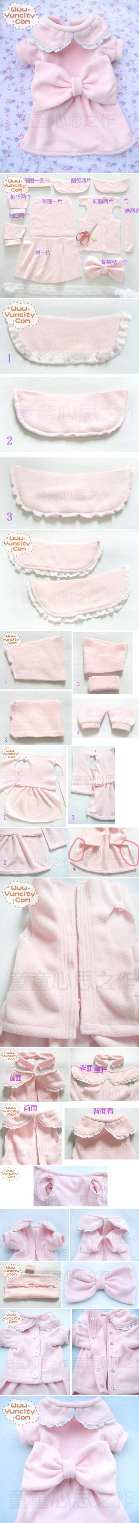 How To Make Cute Dog Dress step by step DIY tutorial instructions