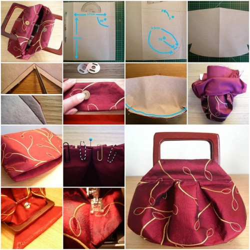 How To Make Cute Fashionable Handbag step by step DIY tutorial instructions thumb