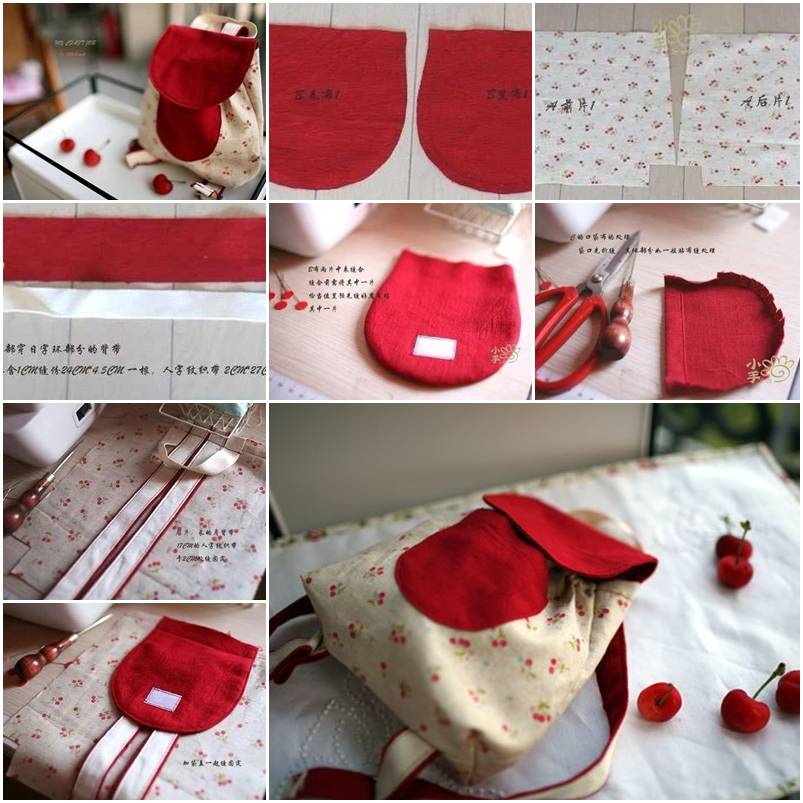 How To Make Cute Little Backpack step by step DIY tutorial ...