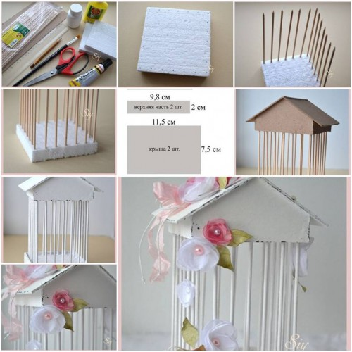 How to make decorative cage step by step diy tutorial instructions how to instructions Home decor craft step by step