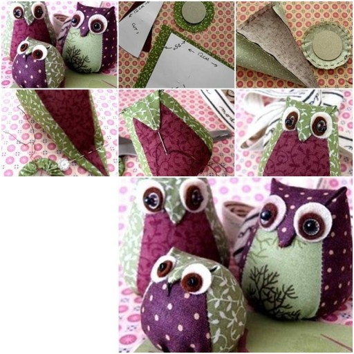 How To Make Easy Fabric Owl step by step DIY tutorial instructions thumb