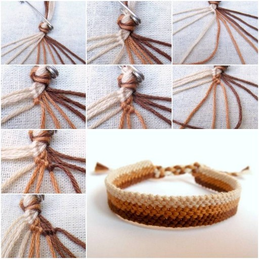 How To Make Easy Weave Bracelet step by step DIY tutorial instructions thumb