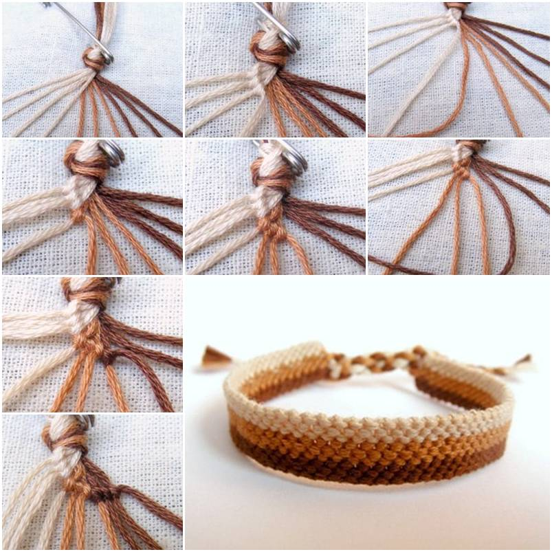 How To Make Easy Weave Bracelet Step By DIY Tutorial Instructions Thumb