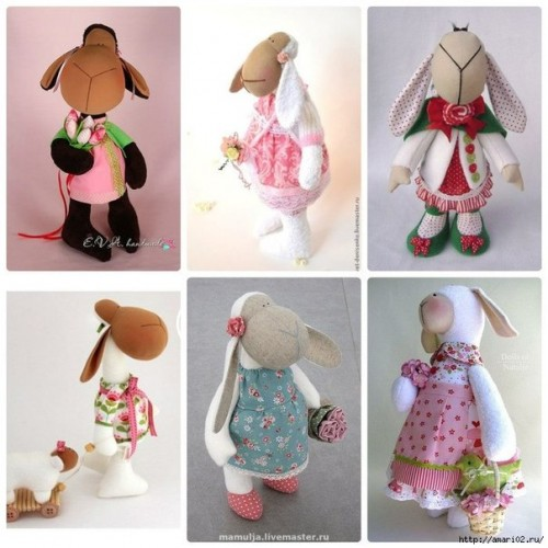 How To Make Fabric Lamb Pattern step by step DIY tutorial instructions thumb