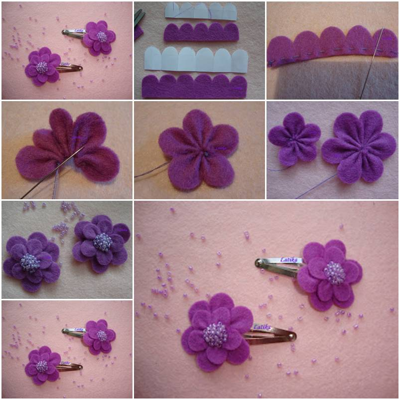 How To Make Felt Morning Flower Step By DIY Tutorial Instructions