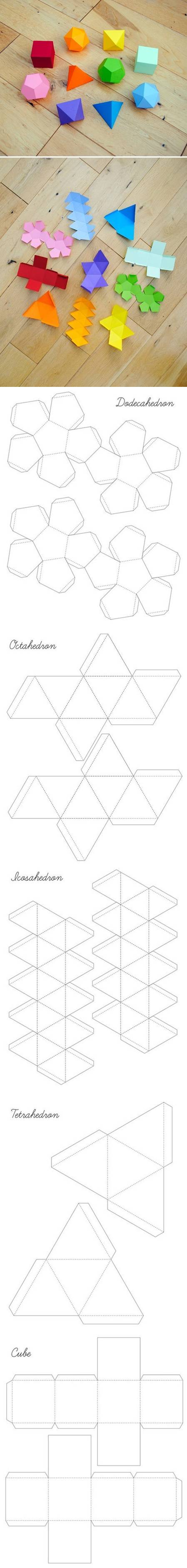 How to Make Geometrical Box Templates step by step DIY tutorial instructions