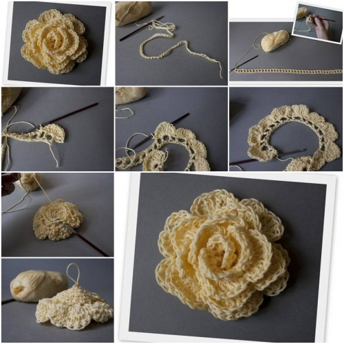 How to Make Hook Rose step by step DIY tutorial instructions thumb