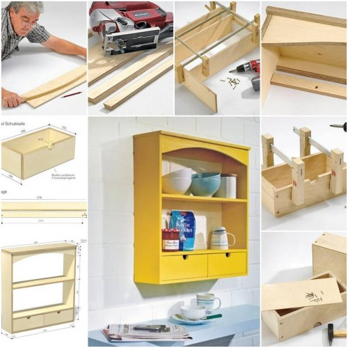 How to Make Kitchen Shelves step by step DIY tutorial instructions thumb