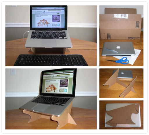 How to Simple Cardboard Laptop Stand step by step DIY tutorial instructions