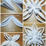 How to fold paper craft origami snowflake step by step DIY tutorial picture instructions thumb