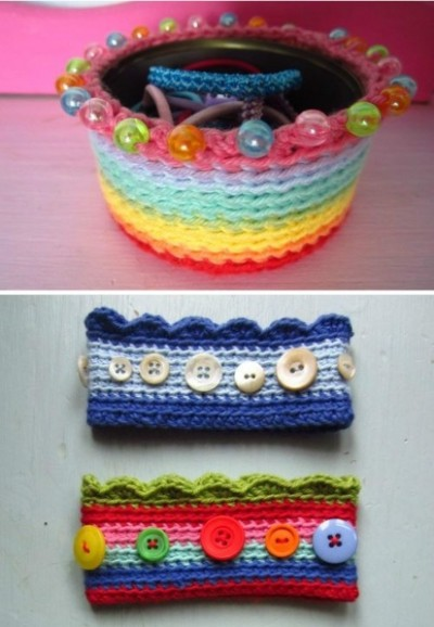 How to knit lovely basket step by step DIY tutorial picture instructions thumb