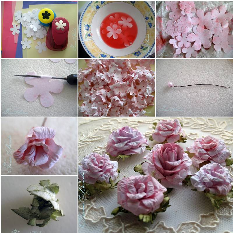 Rose how to instructions for Diy paper roses step by step