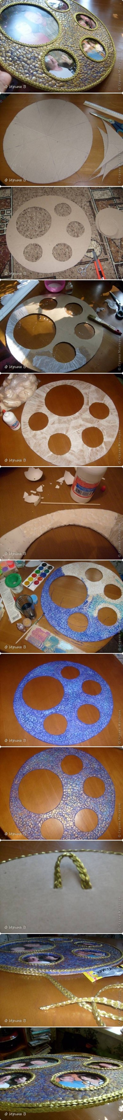 How to make Eggshell Panorama Frame step bys tep DIY instructions