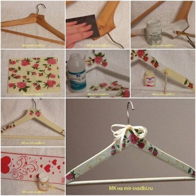 How to make Hanger Decoupage step by step DIY instructions thumb