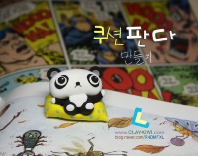How to make Korean clay panda step by step DIY tutorial instructions thumb