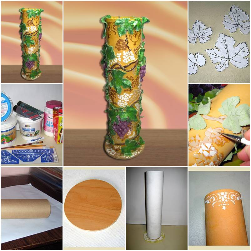 How To Make Leaves Decorated Vase Step By Step Diy Tutorial Instructions Thumb How To Instructions