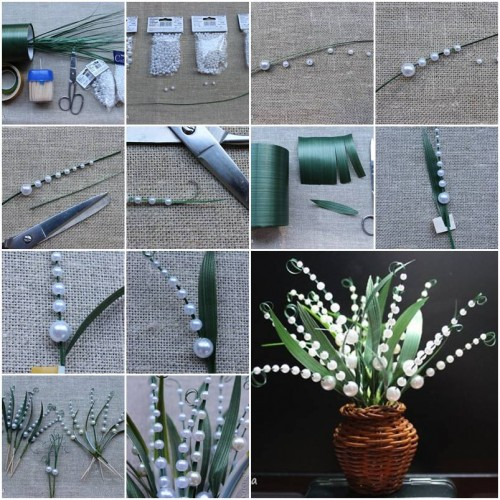 How to make lily of the valley step by step diy tutorial instructions how to instructions Home decor craft step by step