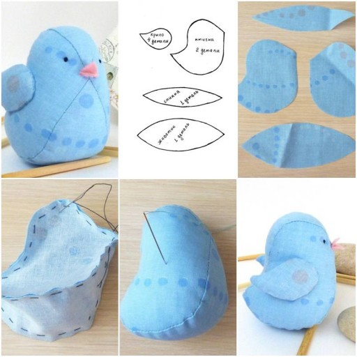 How to make Little Fabric Bird Doll step by step DIY tutorial instructions thumb