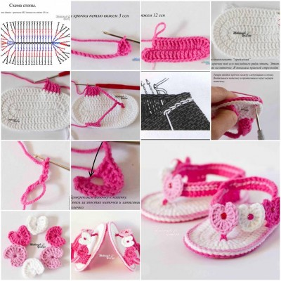 More DIY Ideas How To Make Little Girl Stylish Booties Step