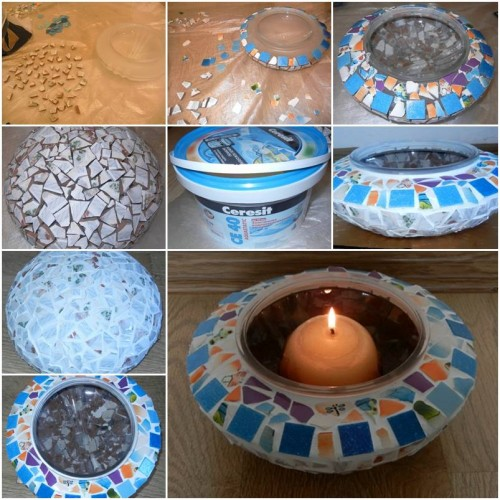 How To Make Mosaic Candle Holder Step By Step Diy Tutorial