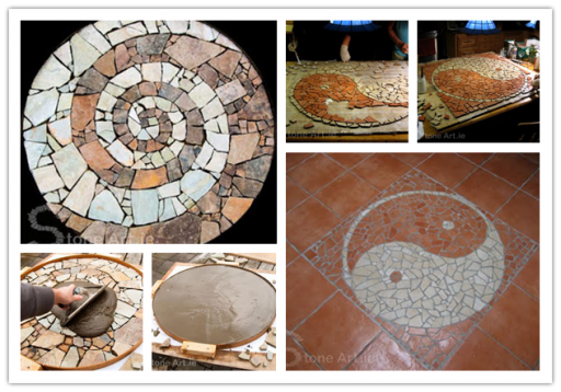 How to make Mosaic Tracks step by step DIY instructions