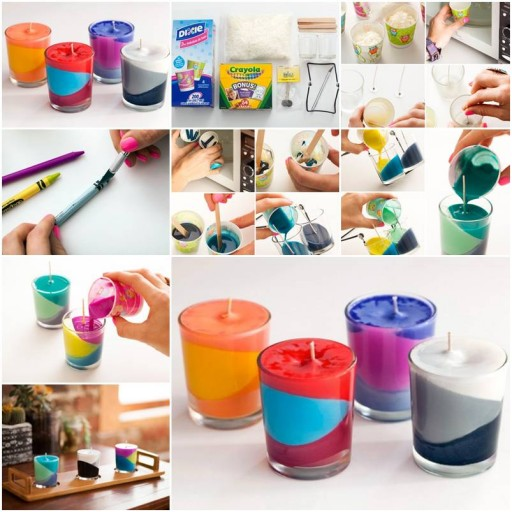 How to make multi color candle step by step diy tutorial for How to make easy crafts step by step