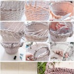 how to make paper basket with handle step by step