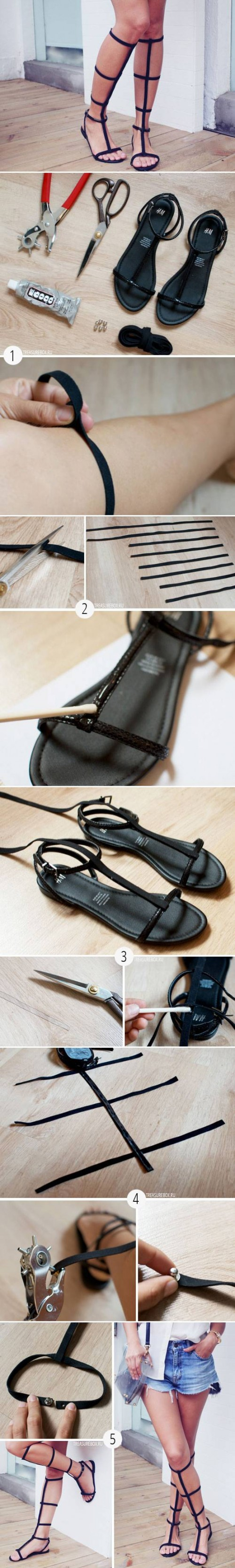 How to make Nice Old Sandal Transformation step by step DIY tutorial instructions