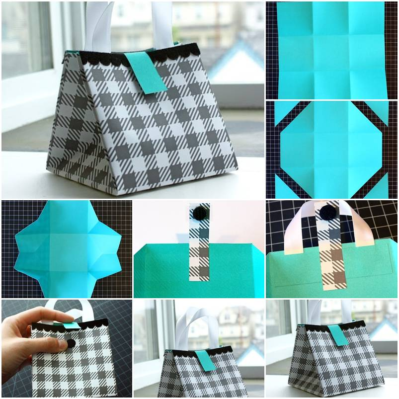 How to make nice paper gift bag step by step diy tutorial for Newspaper craft step by step