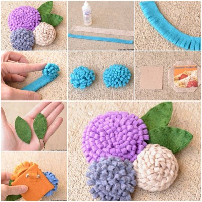 How to make Nice Simple Felt Flower step by step DIY tutorial instructions thumb
