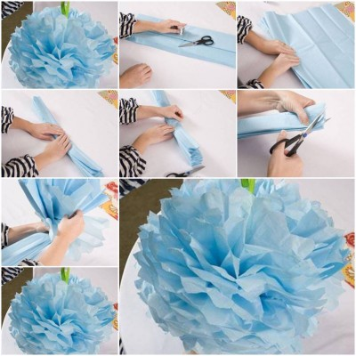 How to make Nice Simple Paper Flower step by step DIY instructions thumb