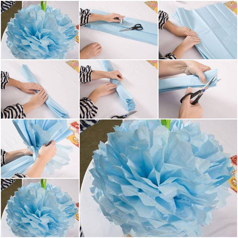 Paper flower how to instructions for Step by step to build a house yourself