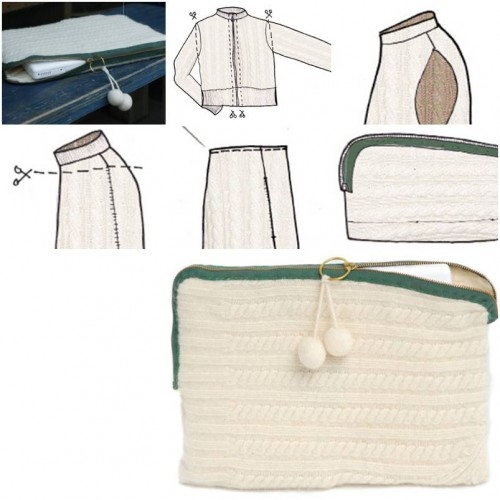 How to make Old Sweater Laptop Case step by step DIY tutorial instructions thumb