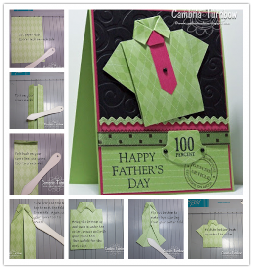 How to make Origami Shirt with Card step by step DIY tutorial instructions