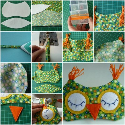 How to make Owl Sleeping Mask step by step DIY tutorial instructions thumb