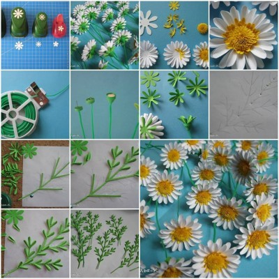 How to make Paper Daisies step by step DIY tutorial instructions thumb