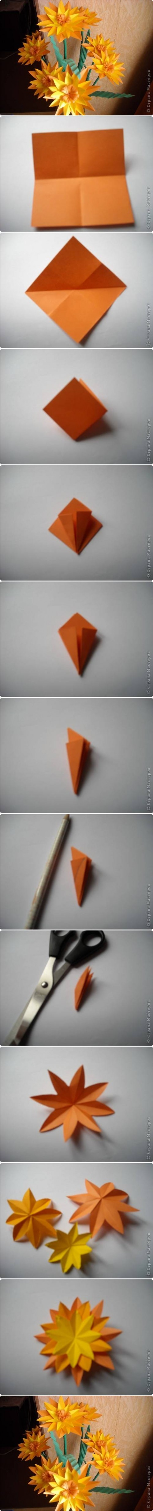 How to make Paper Marigold Flower step by step DIY tutorial instructions 500x4909 How to make Paper Marigold Flower step by step DIY tutorial instructions