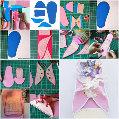 How to make Paper Sneaker Card step by step DIY tutorial instructions thumb