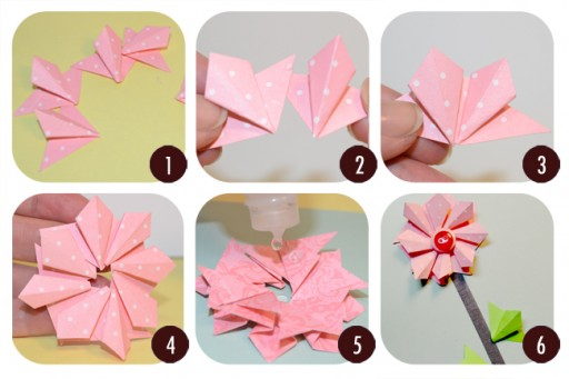 How to make Paper Windmills step by step DIY tutorial instructions