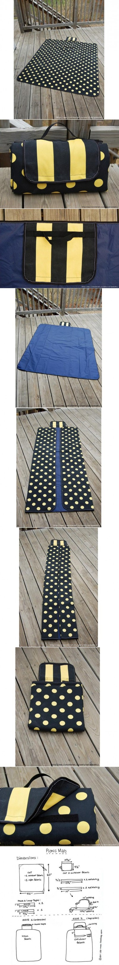 How to make Picnic Mat step by step DIY instructions