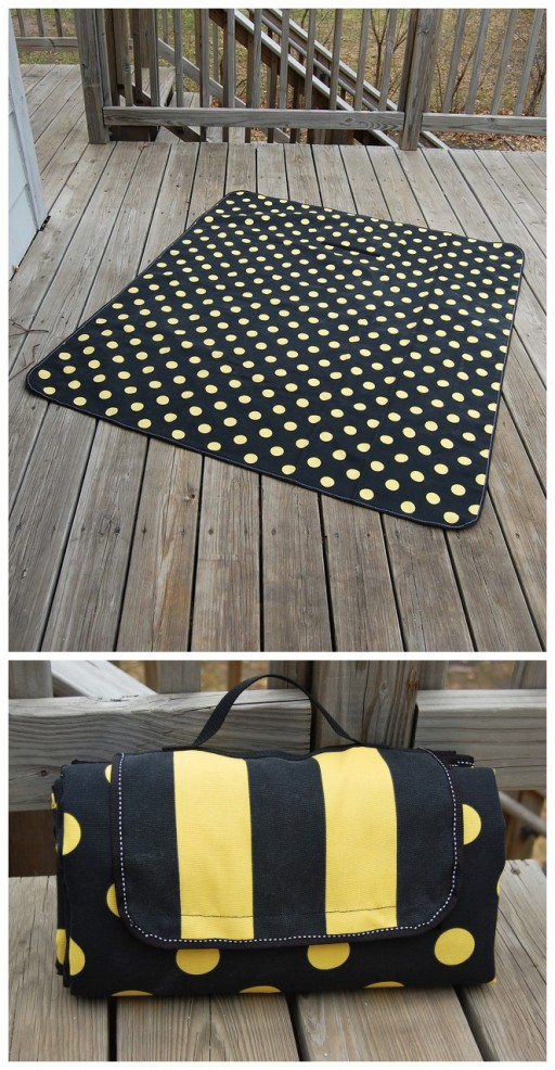 How to make Picnic Mat step by step DIY tutorial instructions